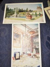 2 VINTAGE POSTCARDS BLENHEIM PALACE LOWER TERRACE & FOUNTAIN & FIRST STATE ROOM
